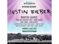 2x PREMIUM VIEW EAST - JUSTIN BIEBER , MARTIN GARRIX - British Summertime Hyde Park - 2nd July 2017