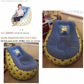 Minions inflatable chair