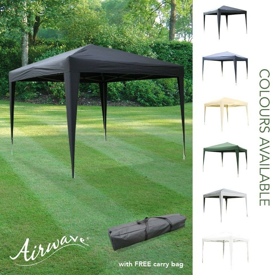 Details About Airwave 3x3m Pop Up Gazebo With Carry Bag Water Resistant Canopy Frame