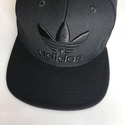 e40a850d413 Black Adidas Snapback Cap Trefoil Logo Brand New Unisex One Size Adults  Free PP