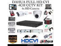 Dahua Full HD CVI 4 Cameras Professional CCTV Kit | 3 Years UK Warranty |