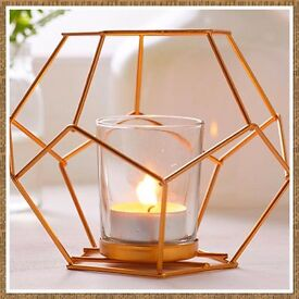 Copper coloured candle holder