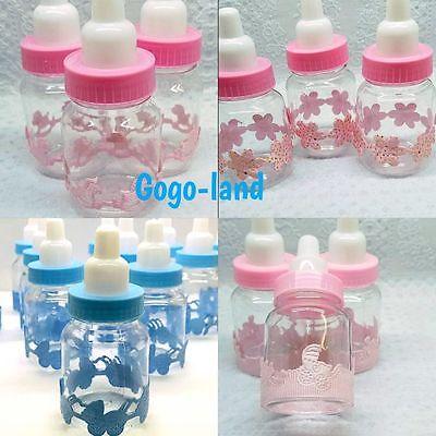12,24,36 Fillable Bottles For Baby Shower Favors Blue Pink Boy,Girl - Baby Shower For Boy
