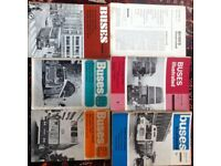 Various bus annuals and books from 1960s and 70s