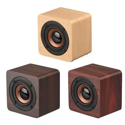 Wooden Bluetooth Speaker Wireless Mini Portable Super Bass Loud Stereo Sound Box - Mini Speaker Sound Box