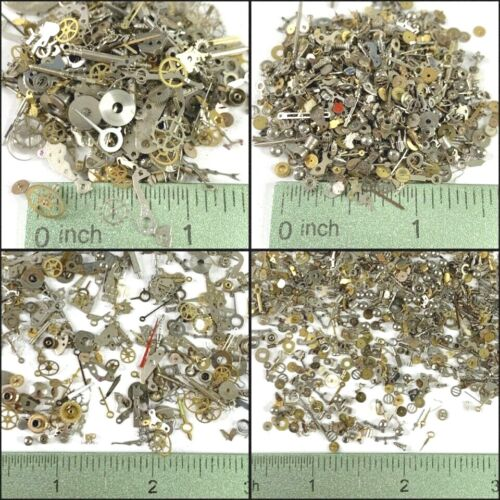 30 Grams Watch Parts Small Tiny Steampunk Wheels Gear Altered Art Watchmaker Lot