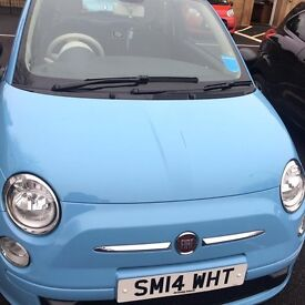 Fiat 500 hatchback 1.2 pop 3dr 2014 reg , baby blue