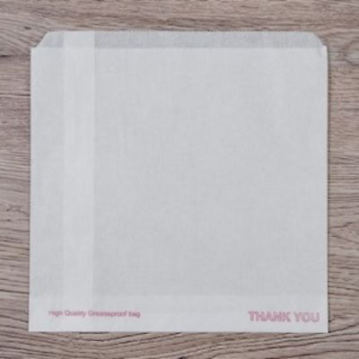 1000 x Greaseproof Paper Bags 8.5 x 6