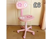 Pink Adjustable Office/Computer Chair