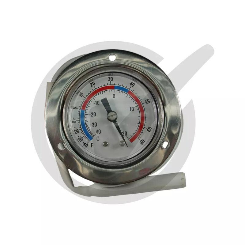 "Vapor Capillary Flanged Panel Mount Refrigeration Thermometer, 48"" Capillary"
