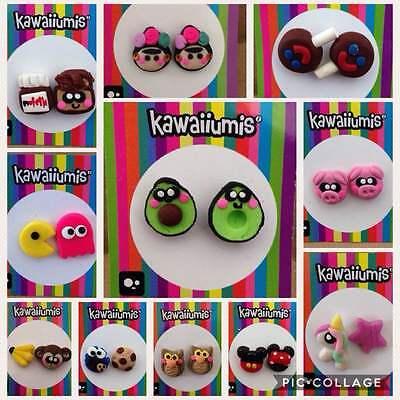 Novelty Earrings, for Children, Girls, Teens, Women, models. Frida Khalo Pac - Pacman For Kids