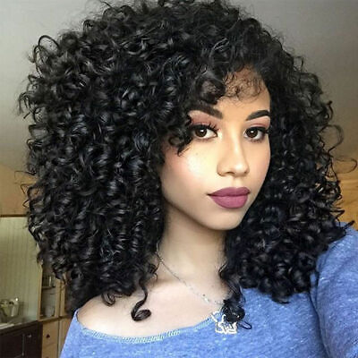 Kinky Curly Short Afro Fluffy Wigs Synthetic Full Head Puff Wigs For Women -