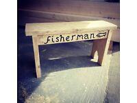 Handmade Reclaim fisherman bench