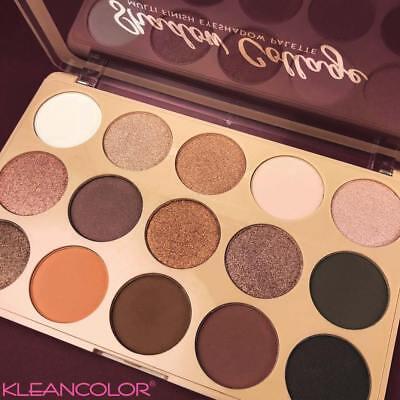 Beauty Rose Gold Colors Textured Eyeshadow Palette Makeup Contour Metallic