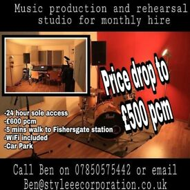 PRICE DROP rehearsal studio down to £500 pcm for band to hire monthly BN41