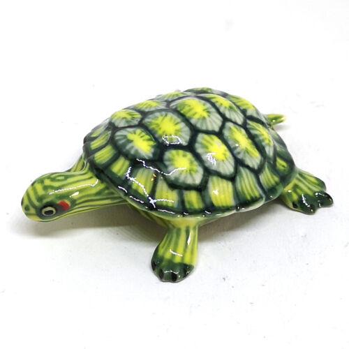 Ceramic Turtle Figurine Hand Painted Porcelain Tortoise Statue Garden Decoration