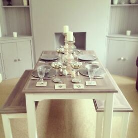 Next dining table and bench set