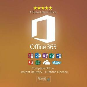 2016 Microsoft Office 365 Lifetime with 1,024 GB Onedrive Cloud Space {Genuine} + 100% Customer Satisfaction