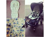 New handmade universal pushchair seat liner set