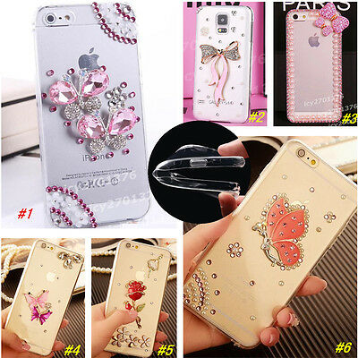 Bling Crystal Diamond Thin Clear Soft TPU Back Shell Case Cover For HTC Thin Crystal
