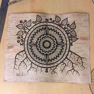 Custom Birch Bark Drawings