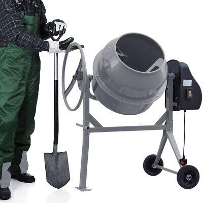 450W 120L Electric Cement Mixer  Portable Mortar Plaster Concrete Drum