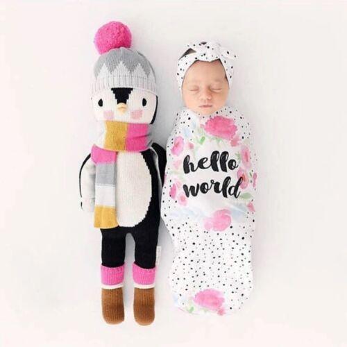 2Pcs/Set Newborn Swaddle Blanket Baby Cocoon Sleeping Bag An