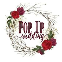 Pop Up Wedding is booking up!