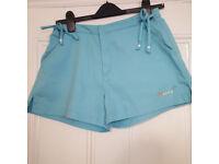 Cute little vintage Reebok shorts in turquoise UK size 10