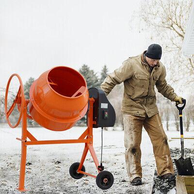 Professional 120 Litre Electric Cement Mixer Mortar Concrete Drum Plaster Stand