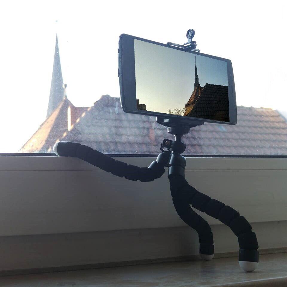 Flexibles Stativ Kamera Smartphone Handy Halterung verstellbar Tripod Dreibein