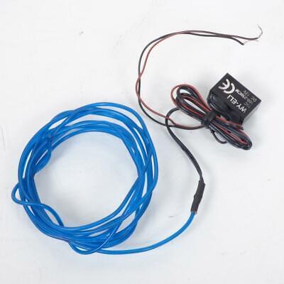 Cable Luminoso TNT Un Largo Desde 2M Que Cremallera Azul para Scooter...