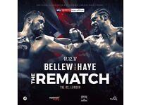 Tony Bellew vs David Haye @ The o2 (2 x Floor Seats) will negotiate price 17 December 2017 at 16:30