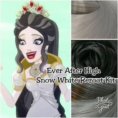 Ever After High Apple Snow White for OOAK Custom Doll Reroot Pack Nylon Hair Kit - Snow White Custome