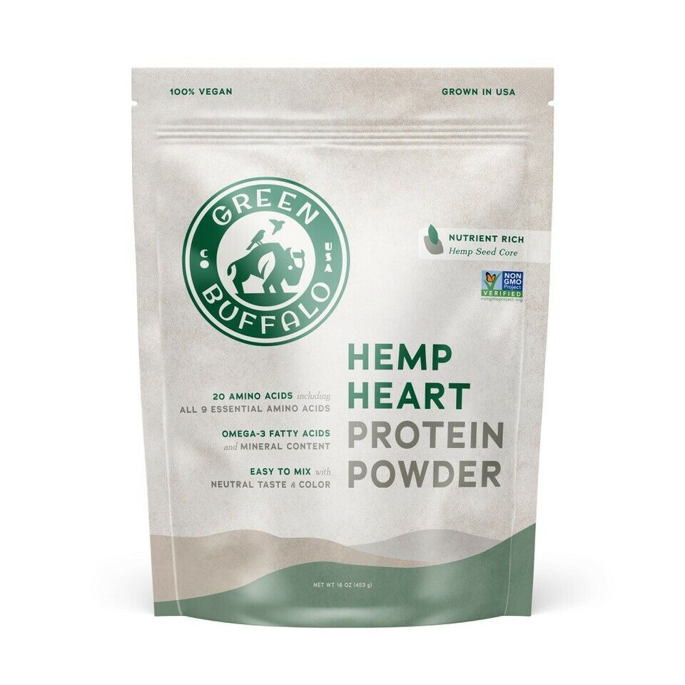 Green Buffalo Hemp Heart Protein Powder - 1 LB