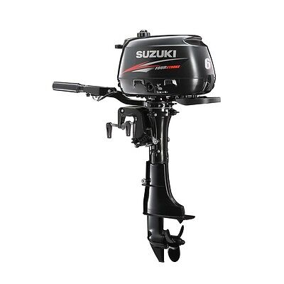 "Suzuki 6 HP 4-Stroke Outboard Motor Tiller 20"" Shaft Engine"
