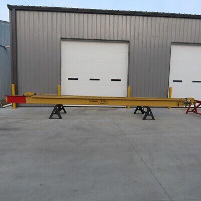 Gorbel 4000lb 2 Ton Cap. Wall-mount Overbraced Tie-rod Jib Crane 288 Swing