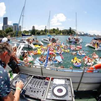 Tickets for DJ Yacht Festival 27th Jan Sydney Harbour