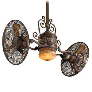 Minka Aire F502-BCW Belcaro Walnut Gyro Ceiling Fan w/Light u0026 Wall Control