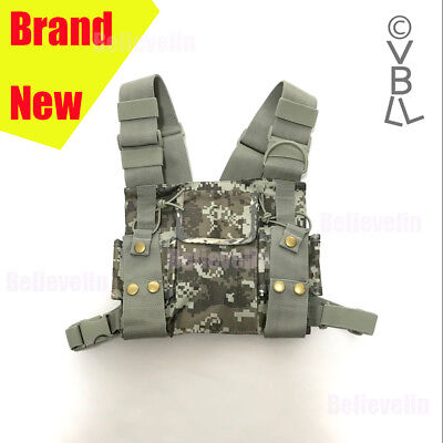 Chest Harness Bag Front Pack Pouch Holster Vest Rig For Baofeng Radio