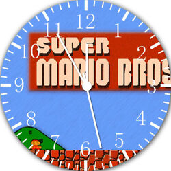 Old Fashion Super Mario Frameless Borderless Wall Clock For Gifts or Decor E117
