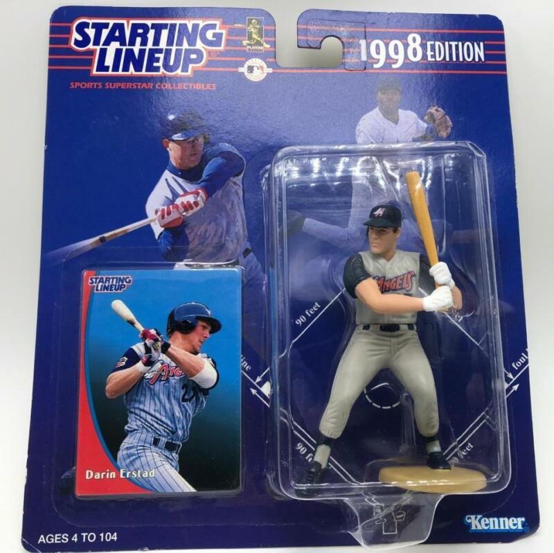 Darin Erstad Los Angeles Angels Starting Lineup 1988 Ed Baseball Figure & Card