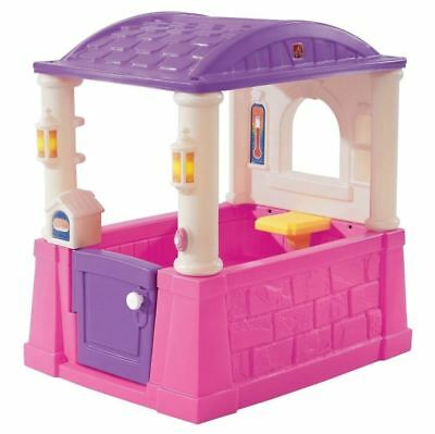 Playhouse For Girls Kids Outdoor Toddlers Plastic Play House Pink Purple Toy Fun