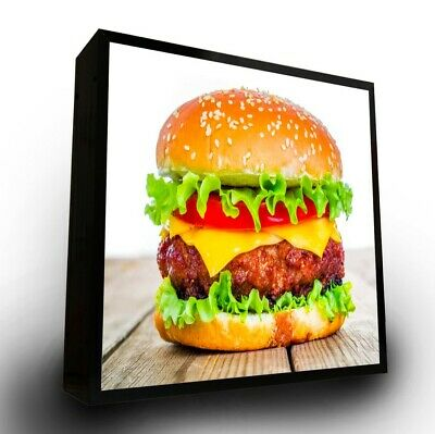 Outdoor Led Light Box Sign 24x24x5 With Full Color Direct Print Graphics