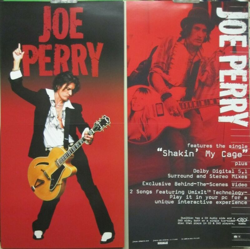 Joe Perry 2005 2 sided promotional poster Flawless New Old Stock Aerosmith