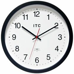 Infinity Instruments ITC Radio-Controlled Atomic Business Wall Clock, 14 Round