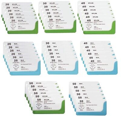 Mixed Sterile Sutures 48 Pieces Suturing Practice Kit