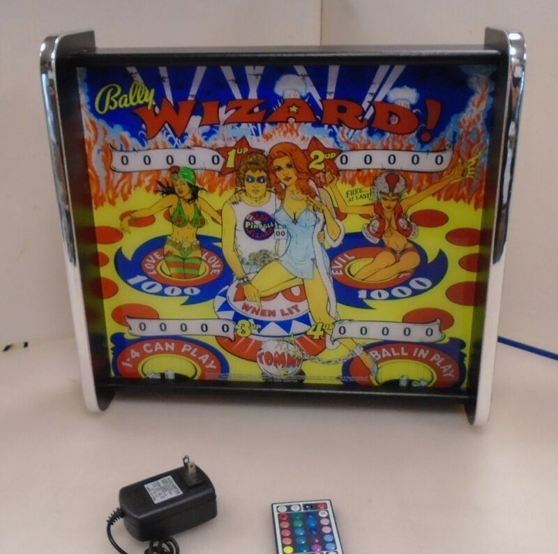 Bally Wizard Pinball Head LED Display light box