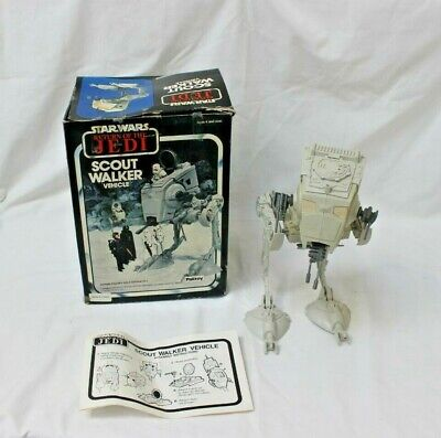 Palitoy 1982 Star Wars Return Jedi Scout Walker Vehicle instructions and box