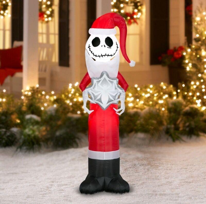 Nightmare Before Christmas Jack Skellington Santa Airblown Inflatable ☃️